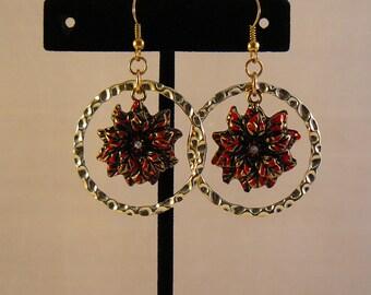 Poinsettia Bloom Earrings
