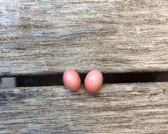 Pale Pink Petite Post Earrings