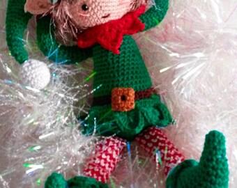 Haakpatroon kerstelf Noël/ crochet pattern Noël