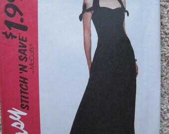 UNCUT Misses Dress - Size 8, 10, 12, 14 - McCalls Easy Stitch 'N Save Sewing Pattern 7039 - Vintage 1994
