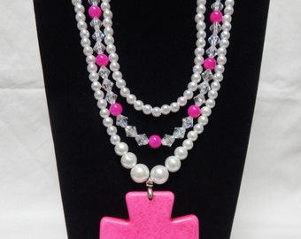 Large Faith multistrand necklace
