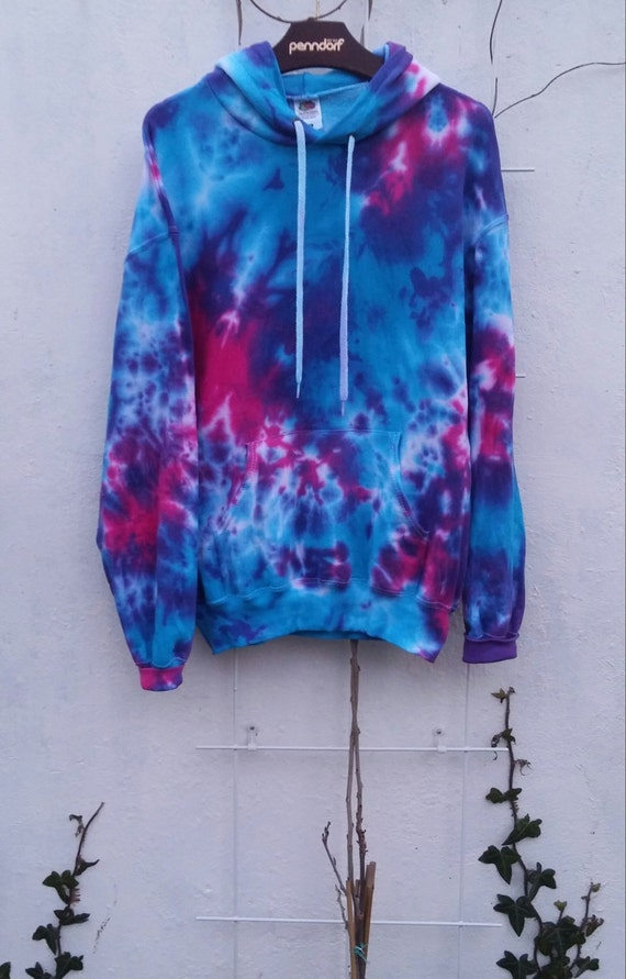 galaxy tie dye hoodie bright colors blue pink. Black Bedroom Furniture Sets. Home Design Ideas