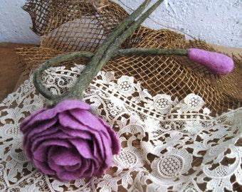 """Felted flower brooch """"Lavender Ice"""" Lavender brooch Lavender pin Felt brooch Felted brooch Wool brooch Purple brooch Rose flower brooch"""