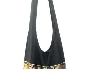 Shoulder Bag Cross Body Bag Handmade Bag Marley Bag Hobo Crossbody Bag Hippie Boho bohemian bag Purse Gift /  Black Color Sling Elephant bag