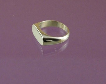 Landscape Signet Ring hand-made in 925 Sterling Silver