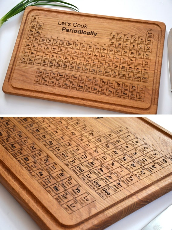 Let 39 s cook periodic table of elements cutting by enjoythewood - Periodic table chopping board ...