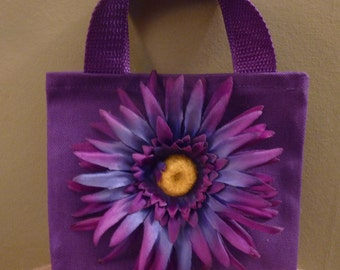 Dark purple little girl purse. Flower girl purse. ~Flower girl basket alternative~
