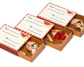 """Personalized Mother's Day Card/ Any Occasion Card/ Spring Matchbox Bouquet of Roses/ """"From To"""""""