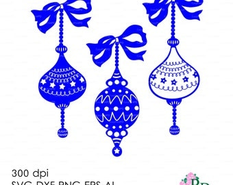 Sale 50% Christmas Ball SVG (300 dpi svg, dxf, ai, eps, png) Clip Art 3D Cutting elements Xmas Noel Die Cut Silhouette Cameo EasyCutPrintPD