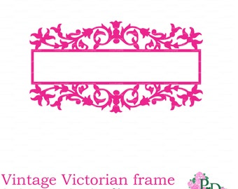 Victorian vintage frame silhouettes SVG Vector EPS PNG Cutting file, papercutting die cut for Silhouette Cameo Cricut cutter EasyCutPrintPD