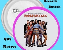 Empire Records Buttons, 90's, Clueless, 90's Films. Cult films, Fashion, Accessories, Buttons, HIgh School