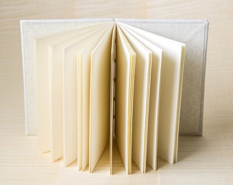 White Hemp Journal - Notebook - Softcover/Hardcover Journal - Coptic Journal - Travel Journal - Handcrafted in Byron bay - Sustainable