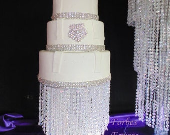 2 Tier Waterfall Cake Stand