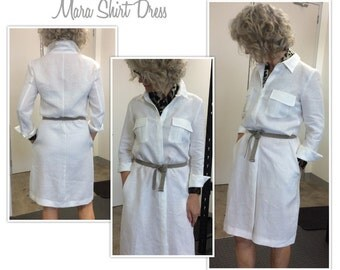 Mara Shirt Dress // Sizes 6, 8 & 10 // Women's Shirt Dress Downloadable PDF Sewing Pattern by Style Arc // DIY clothing // Sewing Projects