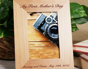 Any Message Engraved Wood Frame