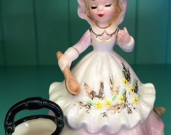 Josef Originals Colonial Days Girl With Kettle