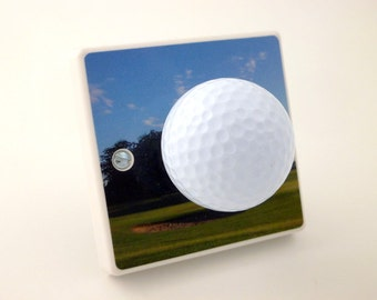 Decorative Golf Ball Light Switch Handmade by Candy Queen Designs, Hole In One Gift, Gift For Golfers, Golf Gift, Golf Ball Gift,