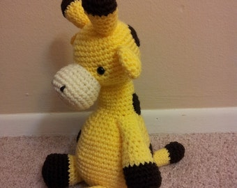 Amigurumi crochet stuffed giraffe