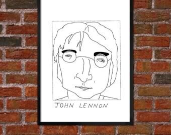 Badly Drawn John Lennon - Poster