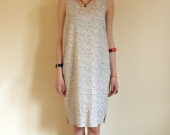 Casual Summer Dress / Sleeveless Summer Dress / Everyday Dress / Cotton Dress / Woman Dress