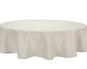 Great Linen Tablecloth, Round/ Oval, Natural Linen Color, Gray Linen Tablecloth,  Linen