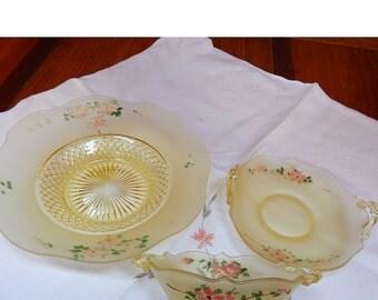 Vaseline Glass Bowls