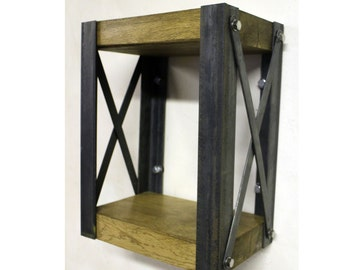 KONK! INDUSTRIAL Oak Floating Wall Shelf [Custom Sizes!]
