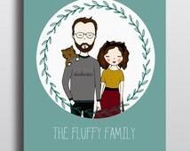 Custom made portraits, Family portrait, Couple portraits.