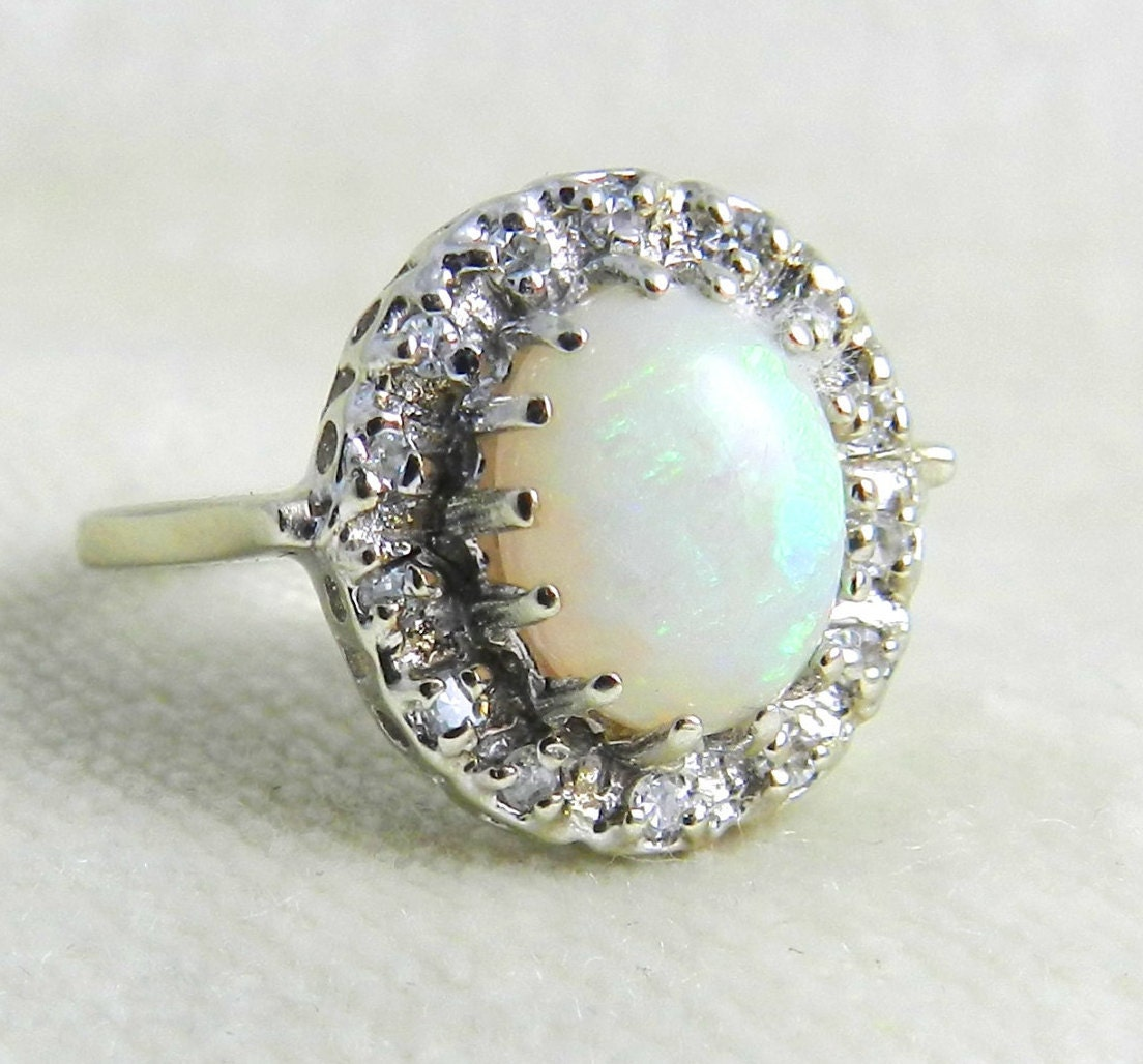 opal halo ring 1 1 carat opal engagement ring colorful opal