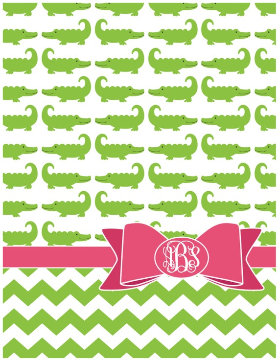 Personalized Notebook - Gators and Bows
