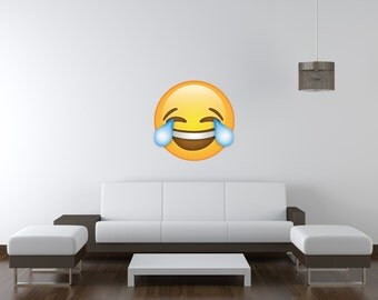 Laughing Emoji Vinyl Wall Decal