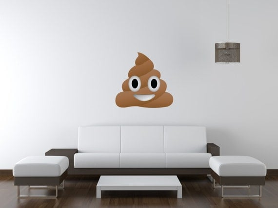 Pile Of Poo Emoji Vinyl Wall Decal - Emoji wall decals