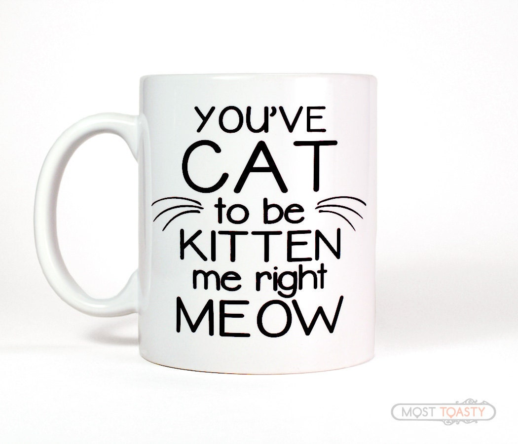 You Ve Cat To Be Kitten Me Right Meow Cup