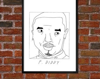 Badly Drawn P. Diddy - Hip Hop Poster