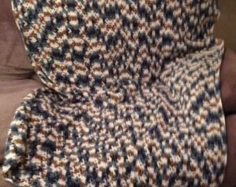 Crochet throw afghan