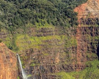 Waterfall in Waimea Canyon Kauai
