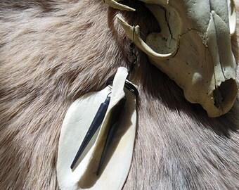SALE Fox scapula earring