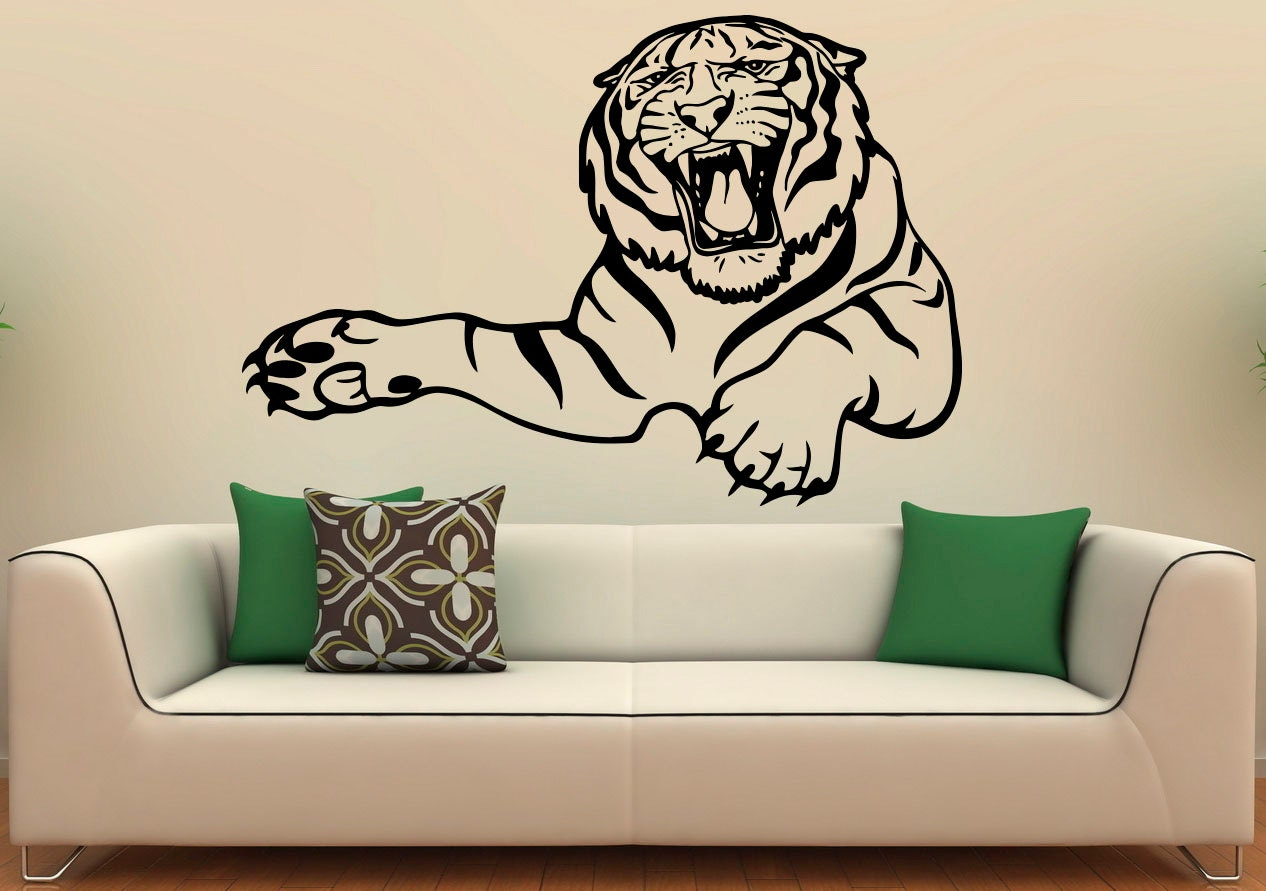 Tiger Wall Decal Vinyl Stickers Predator Animals Wildcat