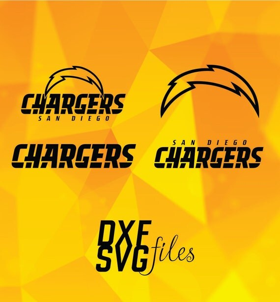 San Diego Chargers Emblem: 4 San Diego Chargers Logos In DXF And SVG Files Instant By