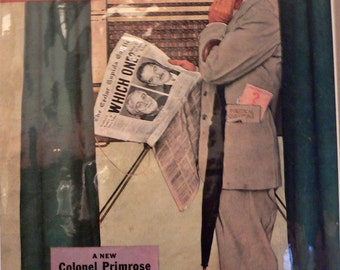 1944 Norman Rockwell Saturday Evening Post Magazine Cover Matted Vintage Print