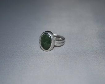 Sterling silver Jasper gemstone ring size 6.5