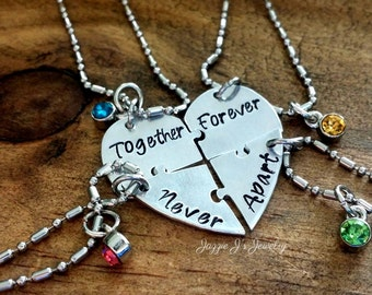 4 best friend necklace etsy