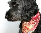Dog bandana Marble in red and gold - handmade with love