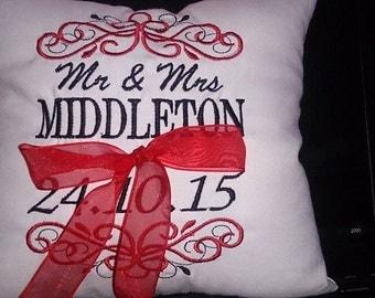 Wedding Ring Pillow/ Ring Bearer Pillow/ Page Boy Pillow