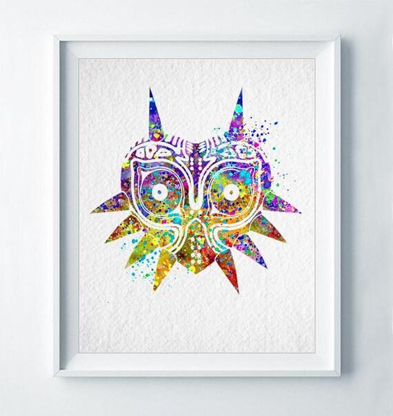 Majora's Mask Legend Of Zelda Art Print Abstract