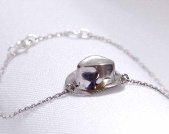 "bracelet ""The Mr Le Chat's Borsalino"" sterling silver."