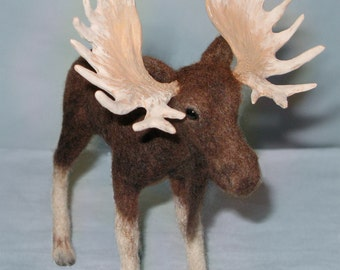 Detailed, Realistic, Needle Felted Moose, *Free Shipping