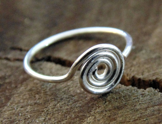 spiral hoop nose rings sterling silver unique nose ring nose