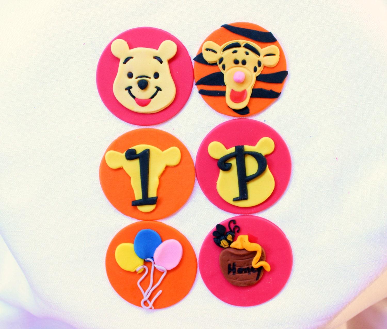 pooh cupcake toppers 12pcs 2 5 tigger cupcake toppers edible fondant