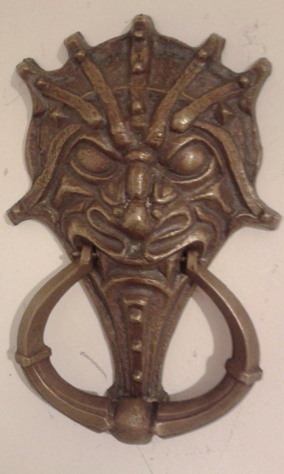 Unique cast brass door knocker mythical creature - Cool door knocker ...